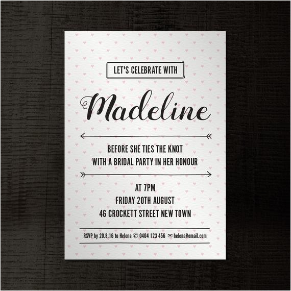 hand drawn hearts invitation a5 indesign