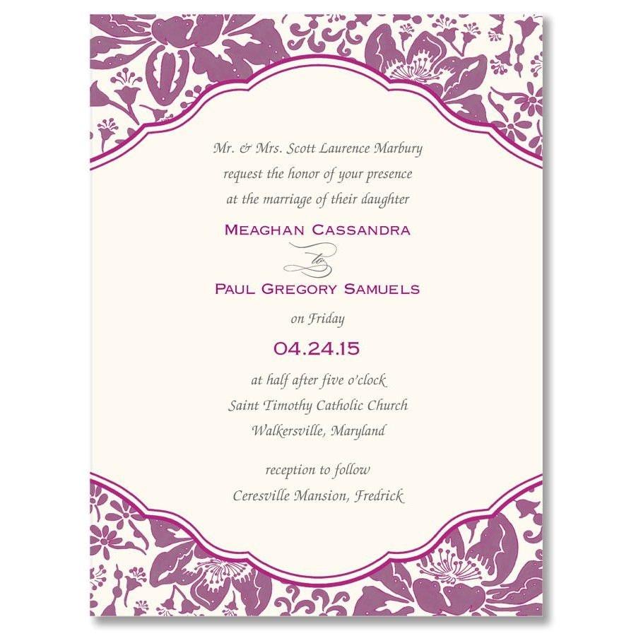 betrothal invitation sample