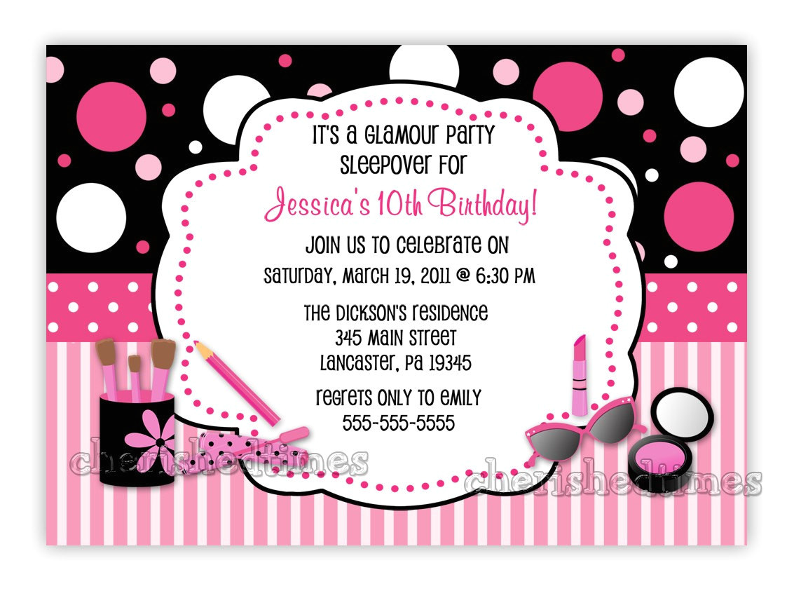 glamour make up birthday party
