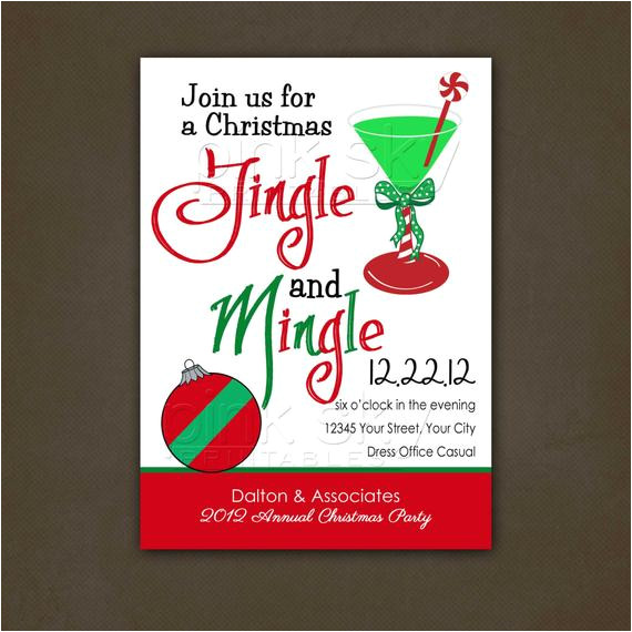 office christmas party invitation