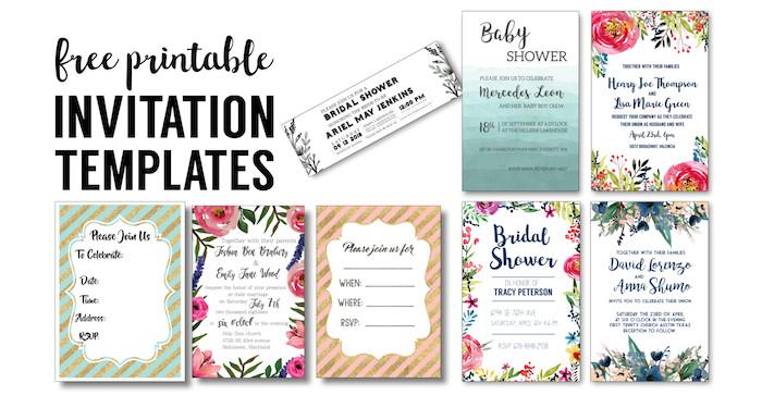 party invitation templates free printables