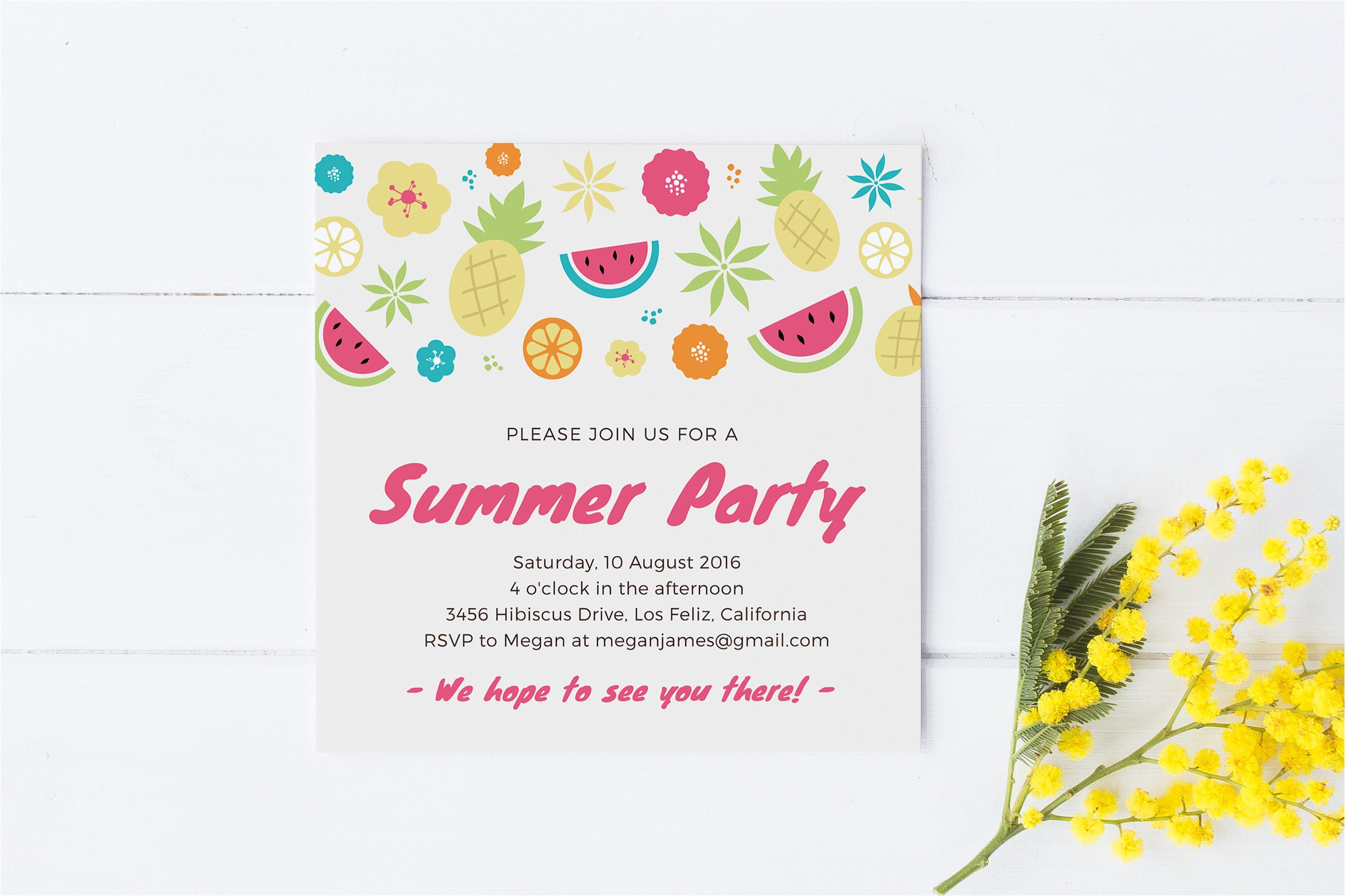 345017 summer party invitation template