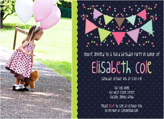 new photoshop template bunting birthday