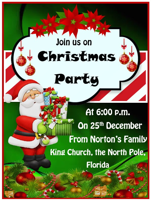 christmas party invitation template 236