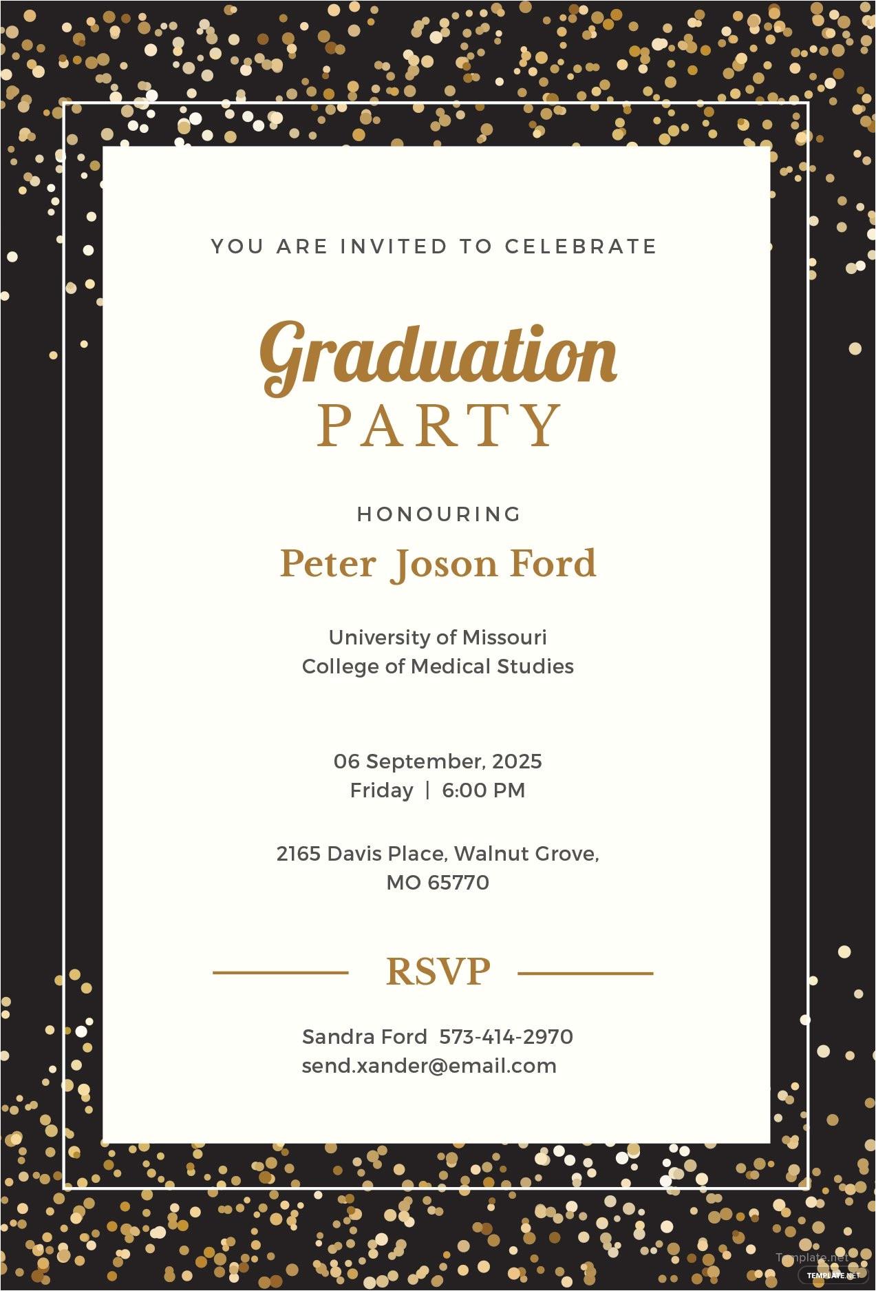 simple graduation invitation