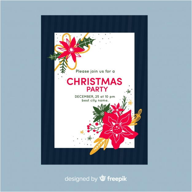 Party Invitation Templates Free Vector Download Christmas Party Invitation Template Vector Free Download