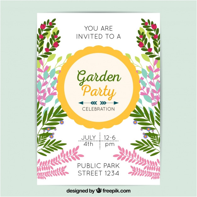 garden party invitation template 1662552