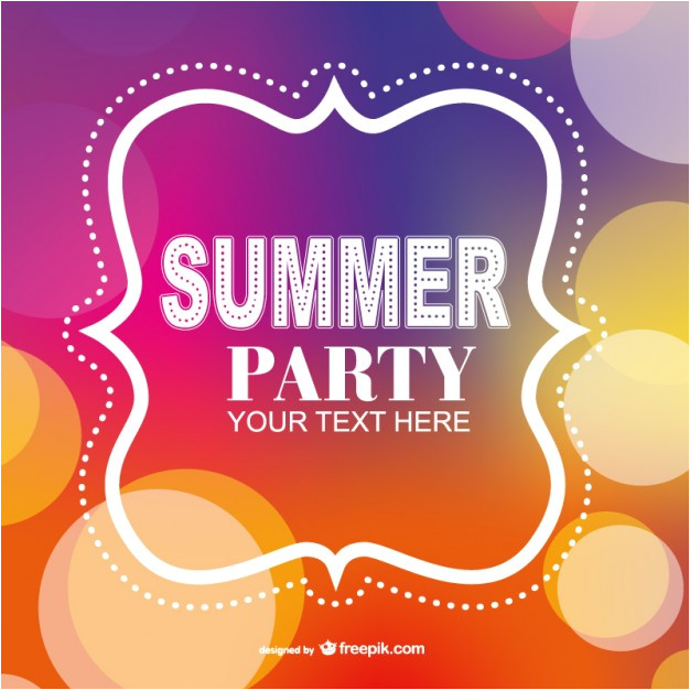 summer party poster invitation template 715570
