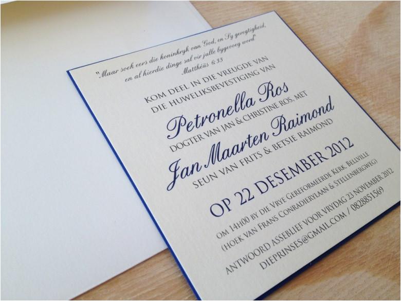 afrikaans wording wedding invitations