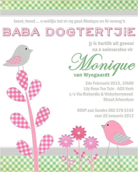 new baby shower invitation wording in