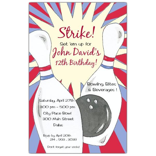 bowling birthday party invitations p 622 58 438ev