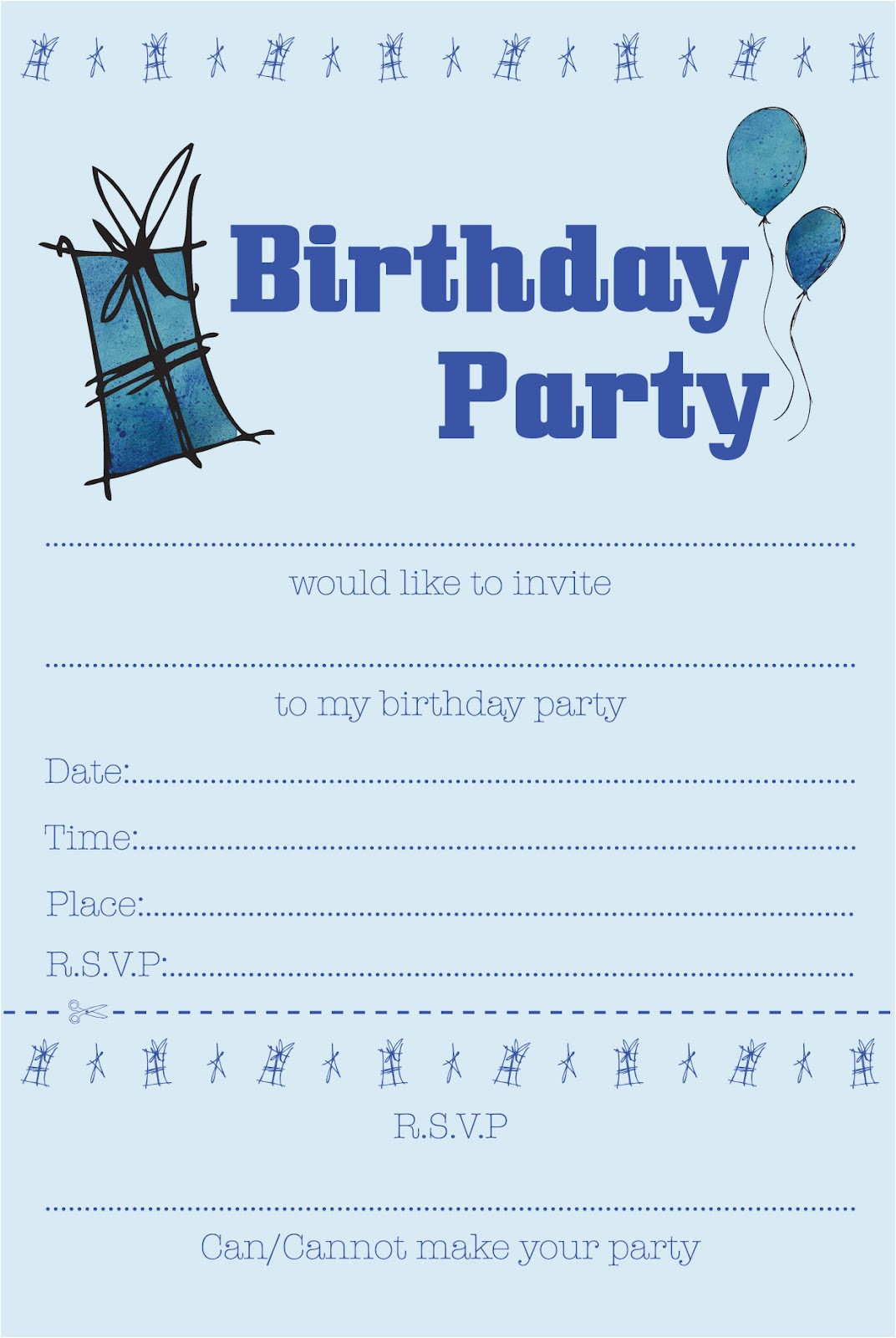 childrens party invites