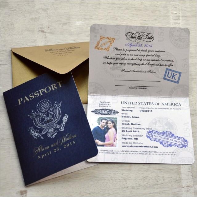 25 elegant image of passport wedding invitations