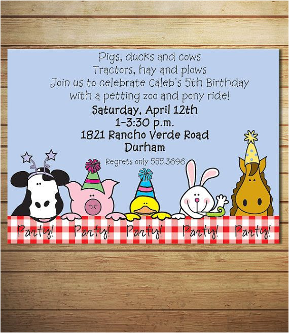 petting zoo birthday party