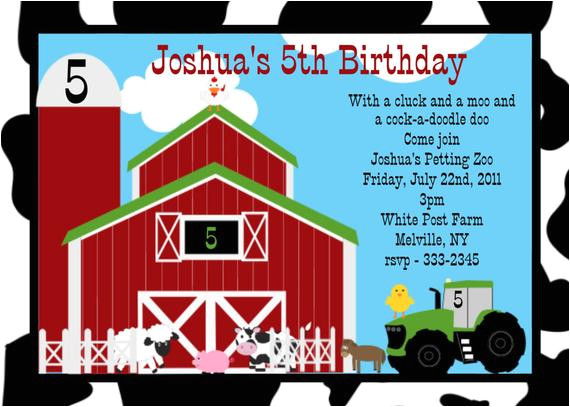 farm birthday invitation farm birthday party 3