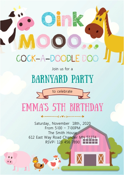 Petting Zoo Birthday Invitation Template Farm Petting Zoo Birthday Party Invitation Template