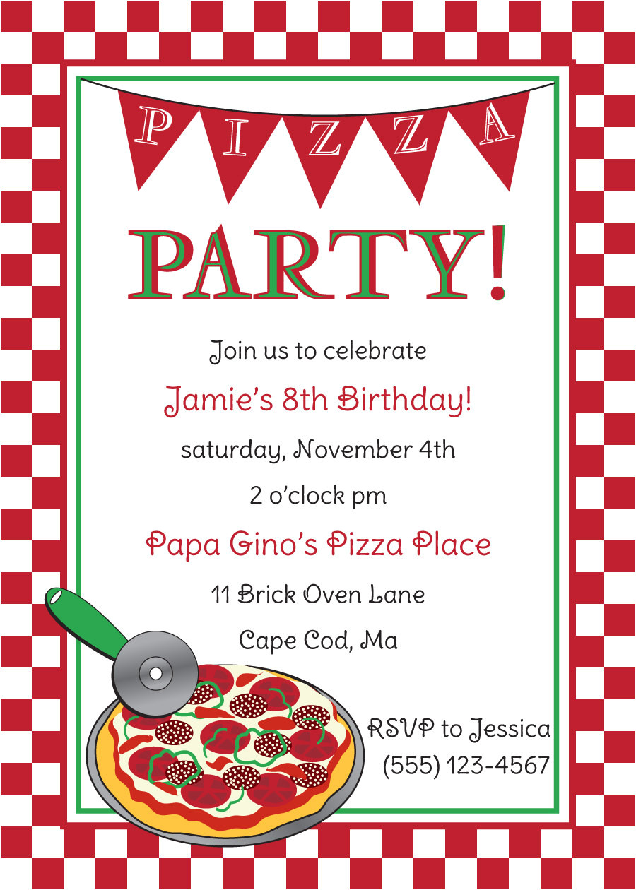 free pizza party invitation templates