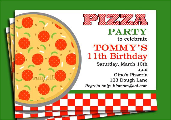 pizza party invitation printable or