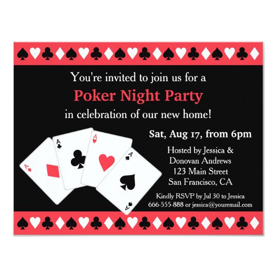 poker game night housewarming party invitations 256511111793802506