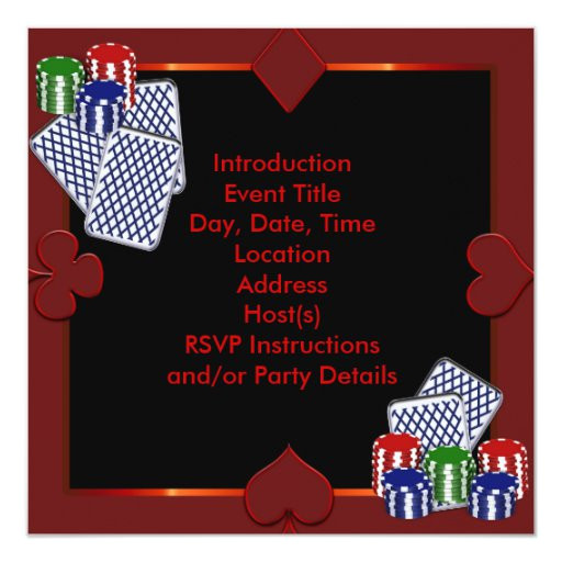 poker party invitation template 161476955361130709
