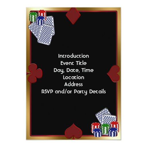 poker party invitation template 161977447657195279