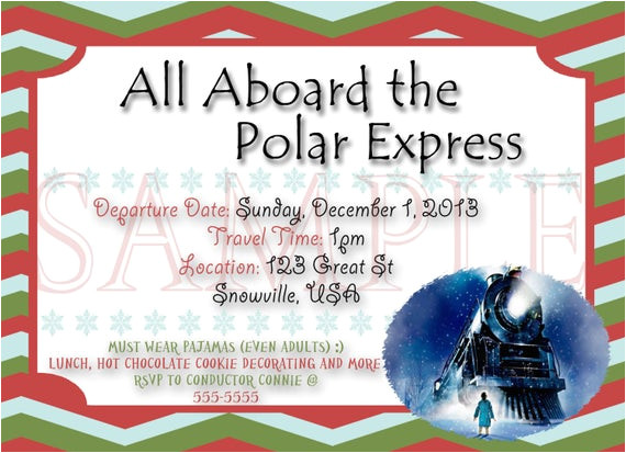 polar express party digital invite