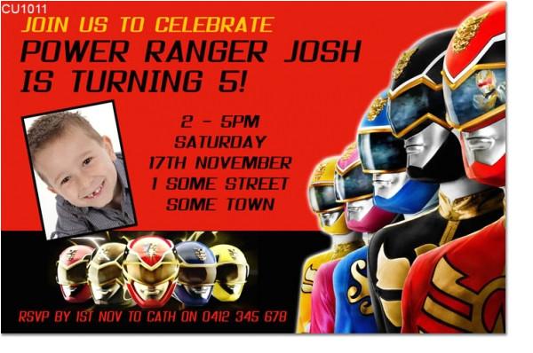power ranger birthday party invitations