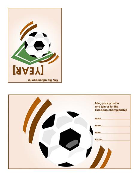soccer party invitation quarterfold 566