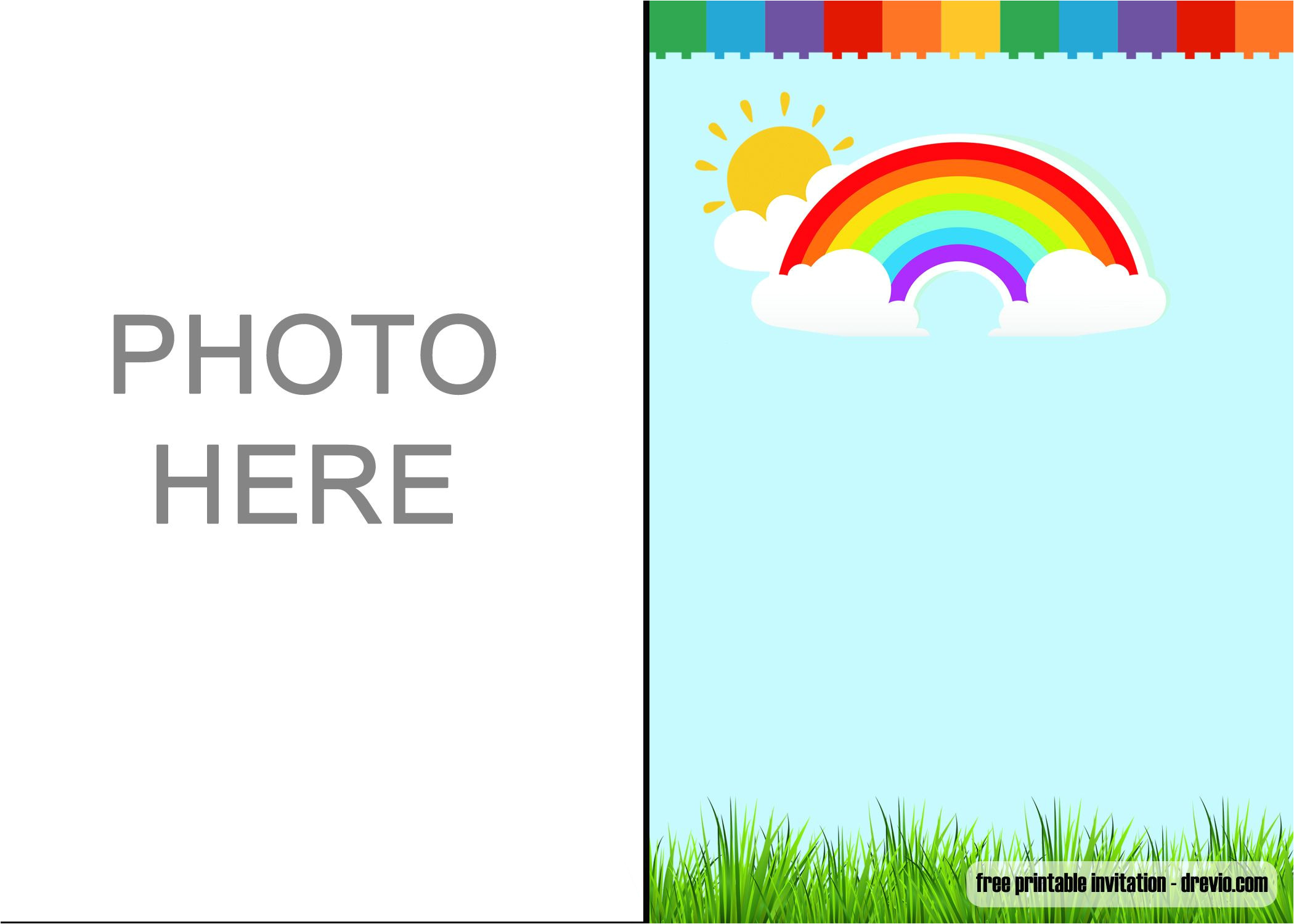 free download rainbow party invitations