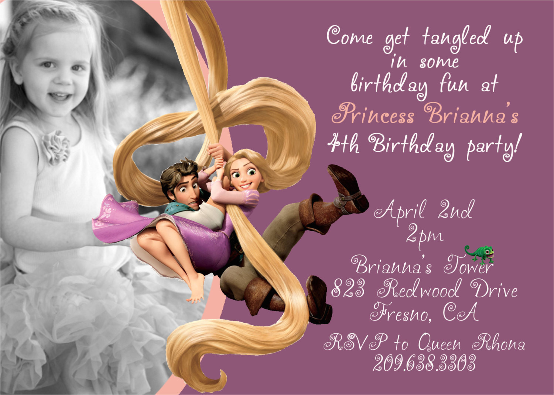 rapunzel birthday invitation templates