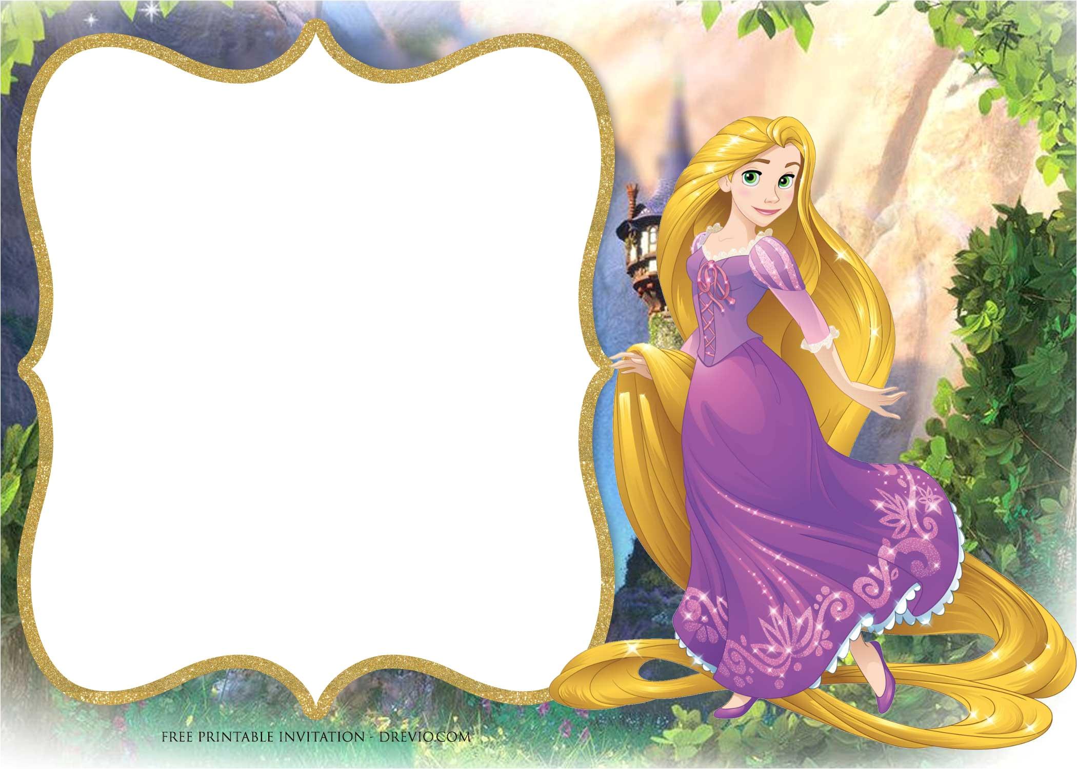 free printable tangled rapunzel invitation templates