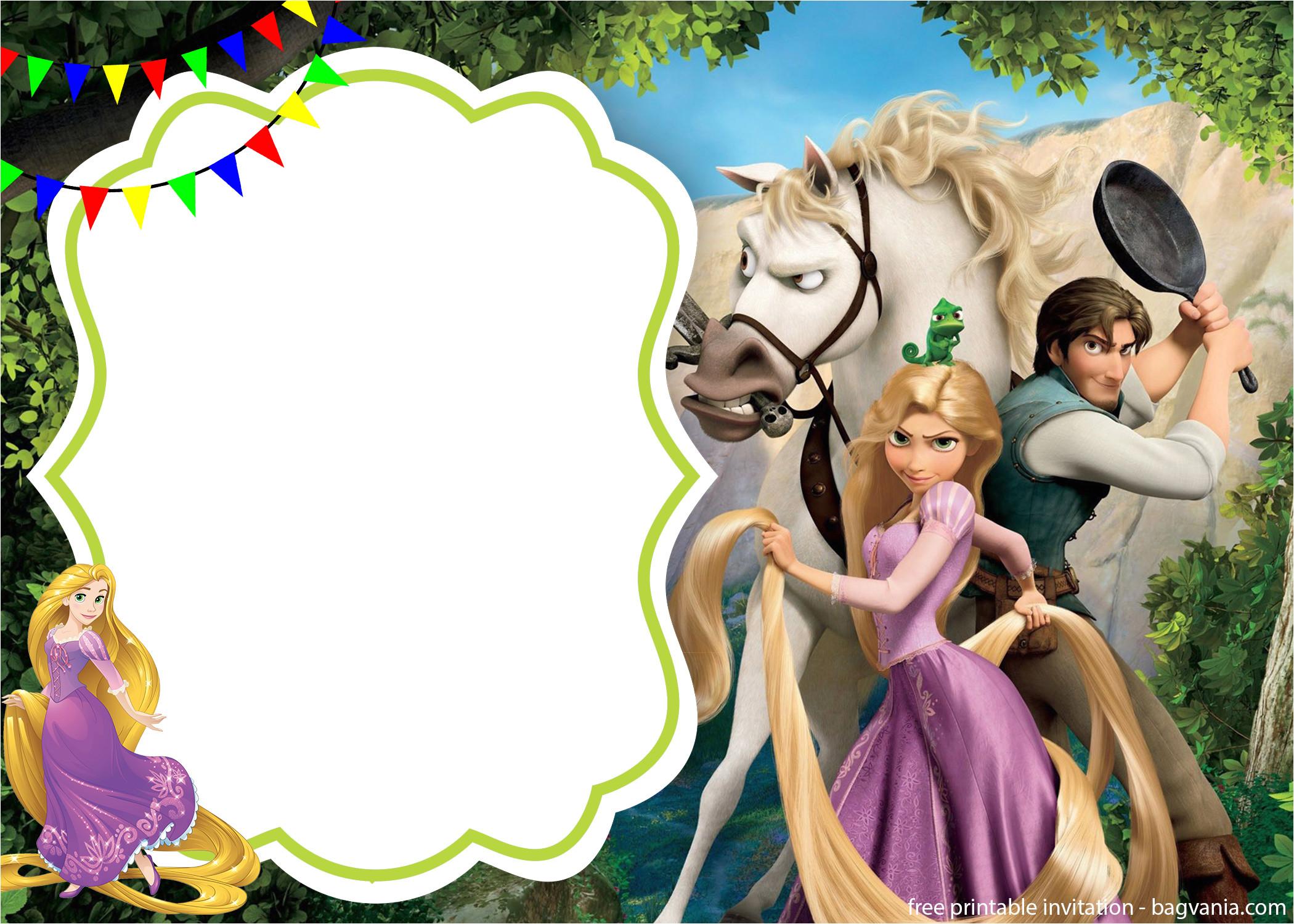 free royal rapunzel invitation template