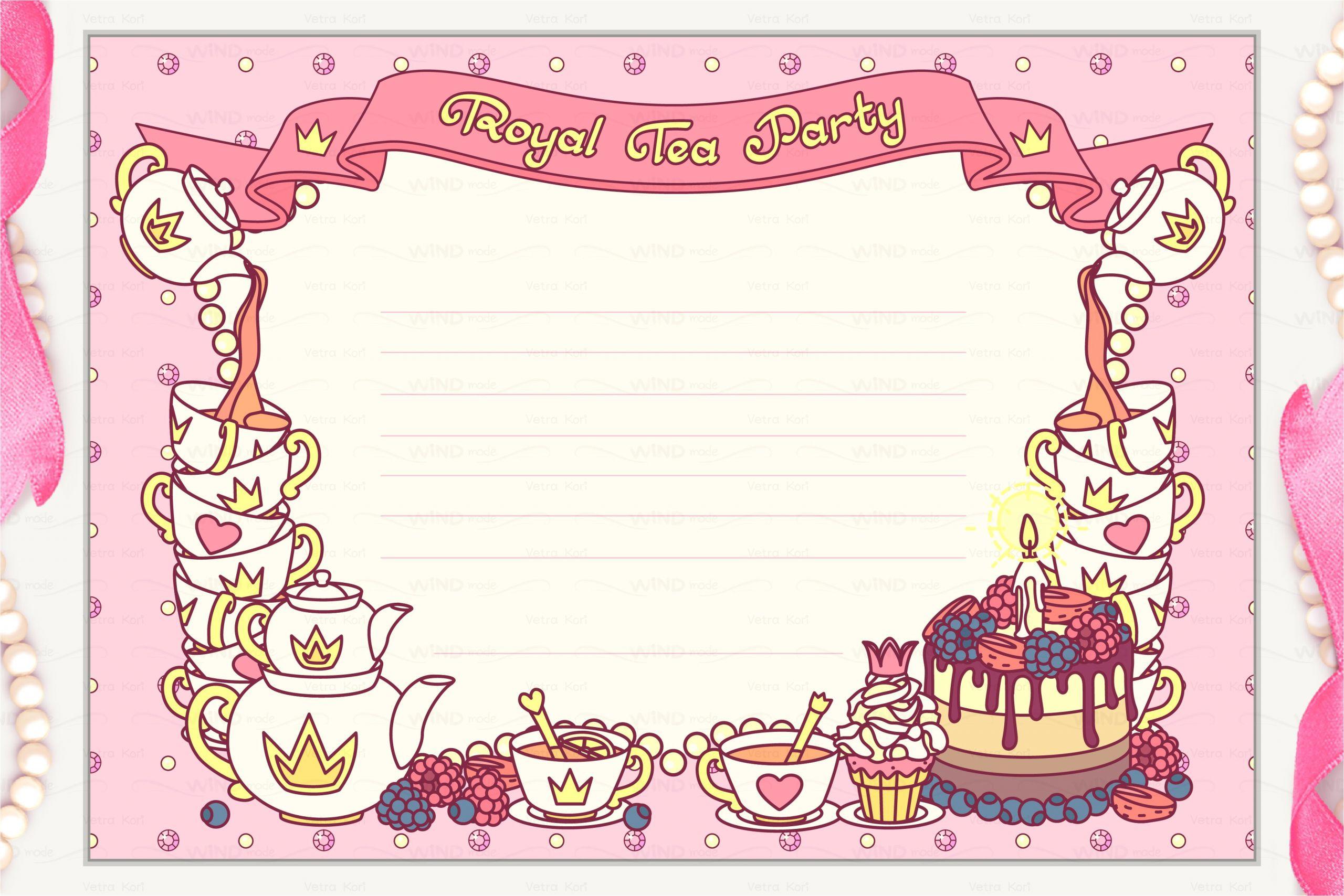 2279738 e2 99 a5 vector royal tea party invitation