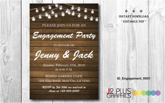 instant download engagement invitation