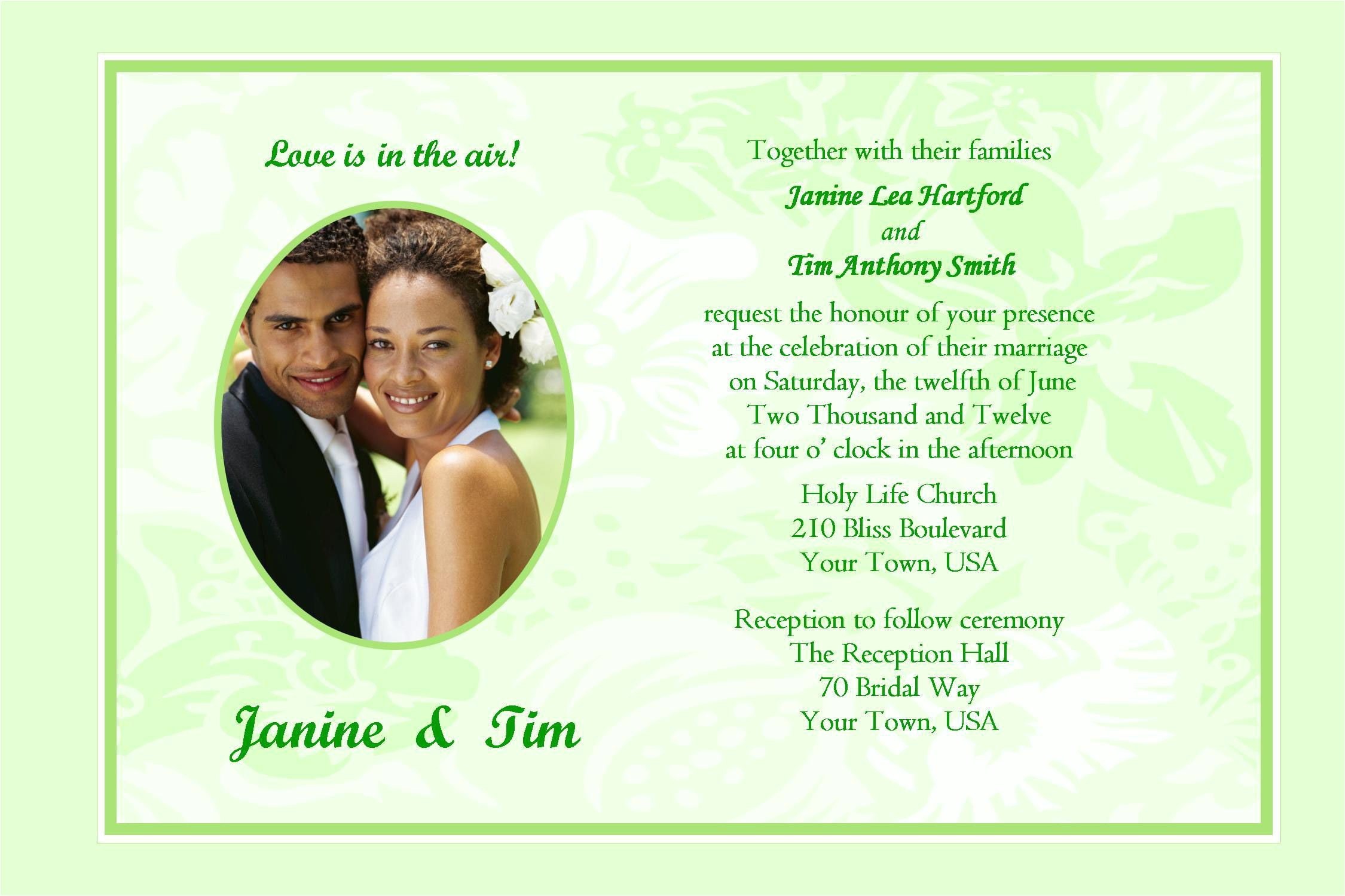 Sample Invitation Card Wedding Party Wedding Invitation Sample Wedding Invitation Card New