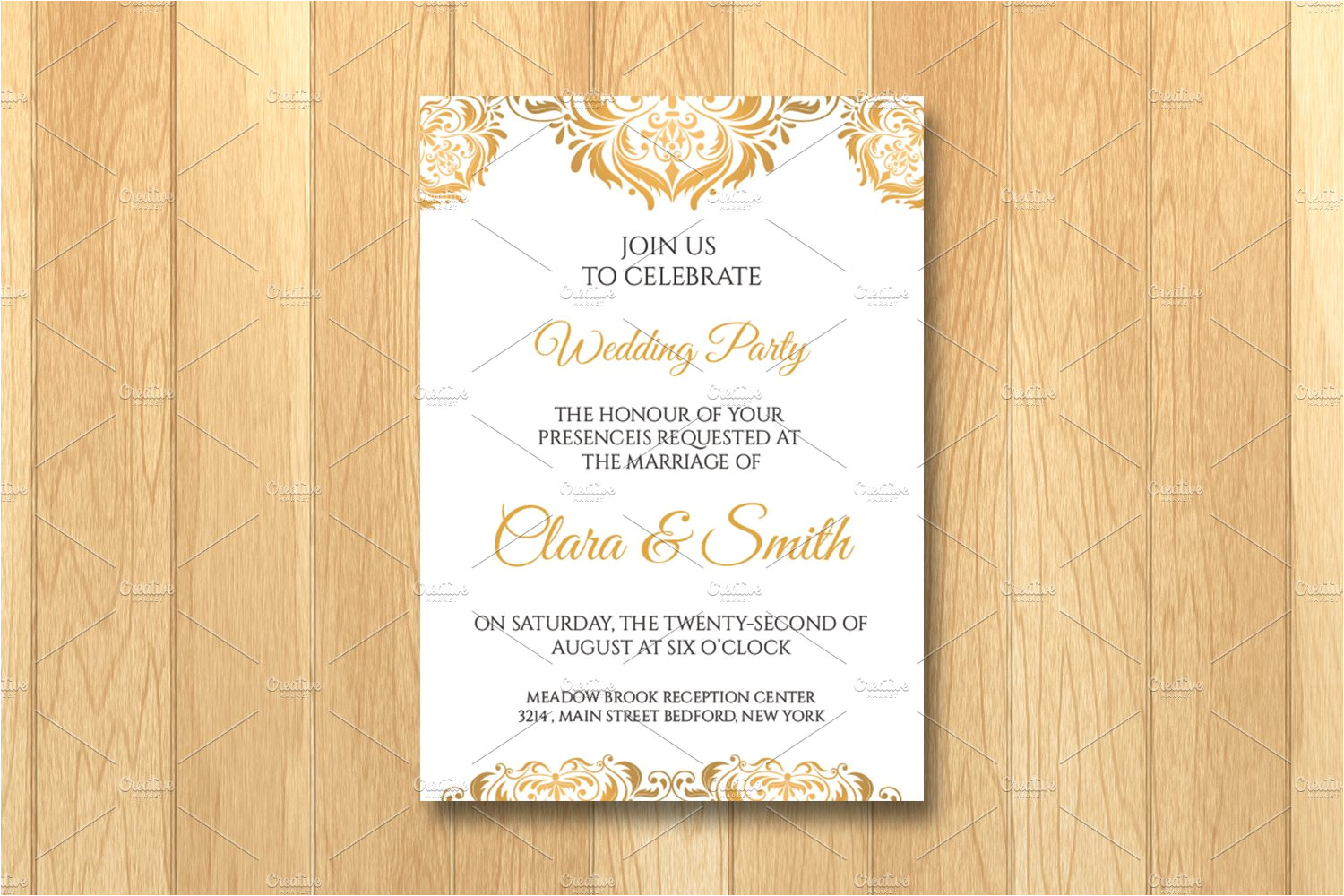 992977 wedding invitation card template