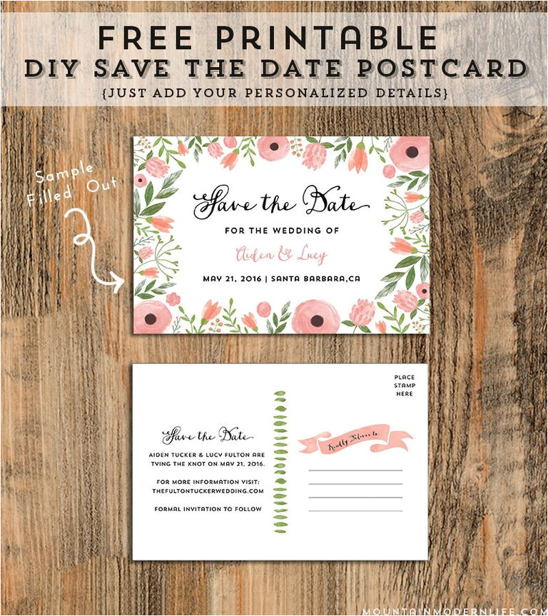 free save the date templates 1358239