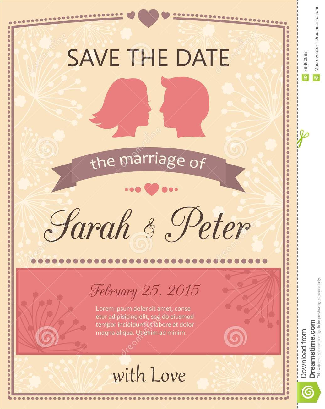 royalty free stock photo save date wedding invitation card template vector illustration image36460995
