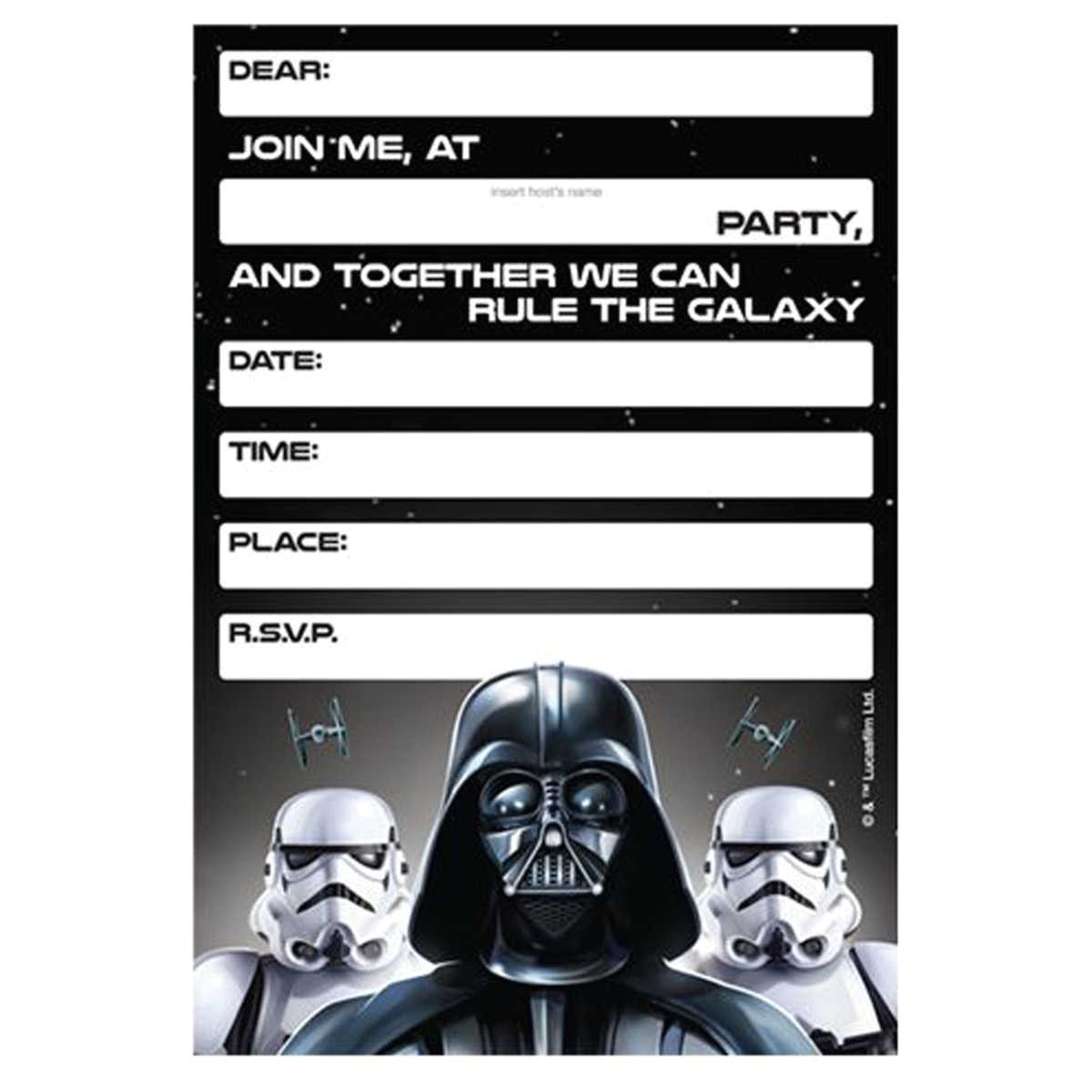lego star wars birthday invitations