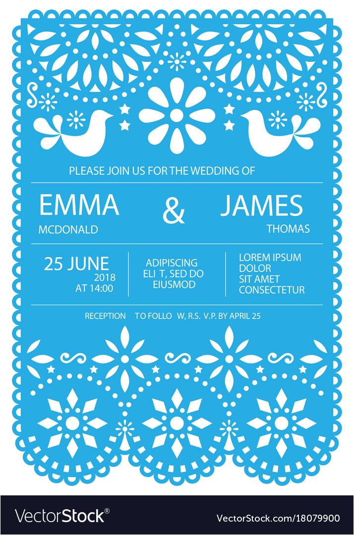 wedding invitation card template mexican vector 18079900