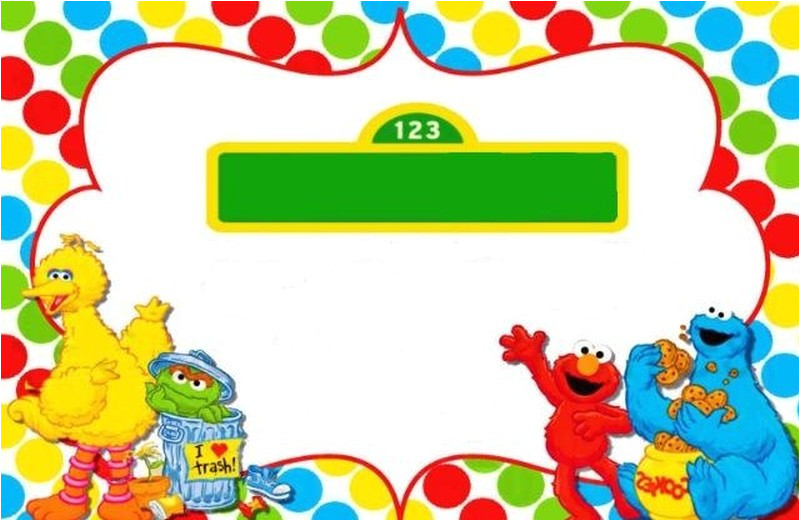 sesame street invitations and party ideas