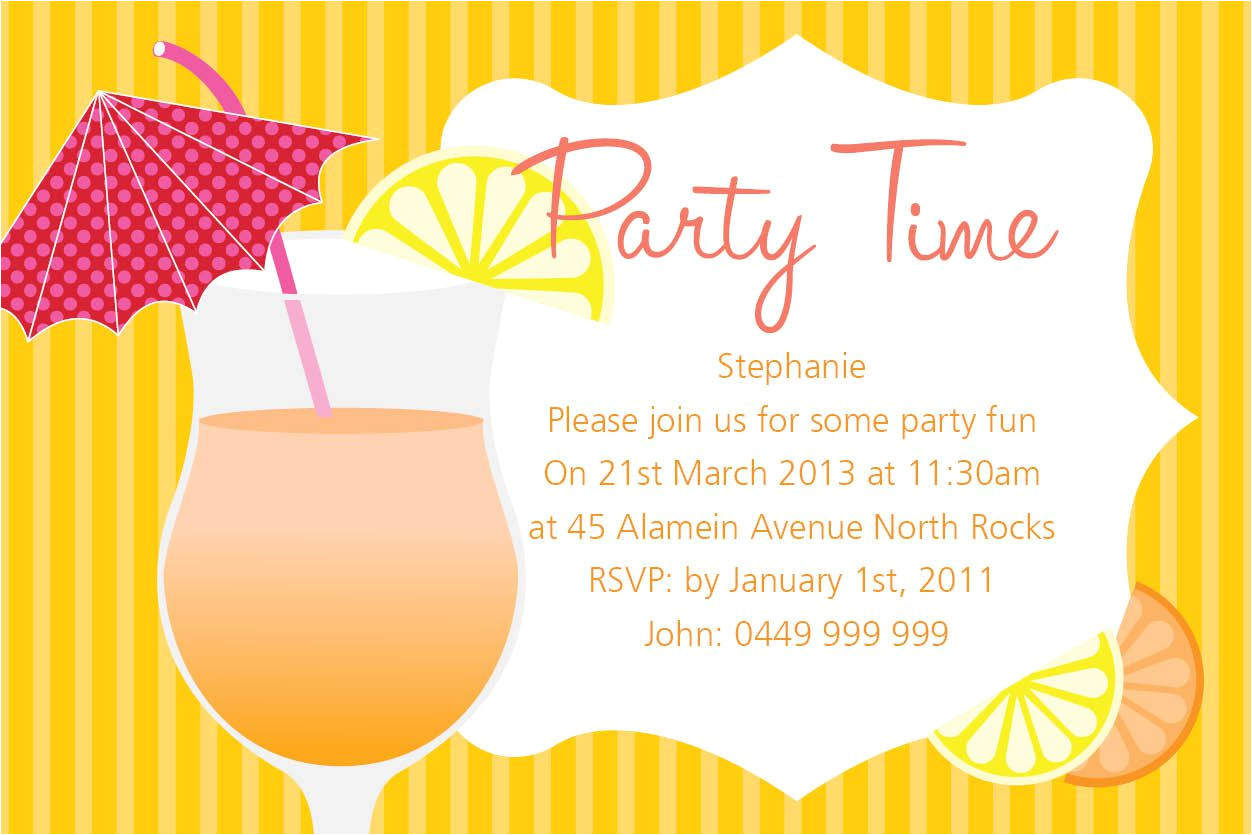 summer party invitations printable