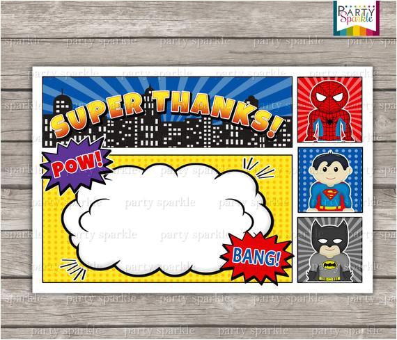 instant download superhero birthday