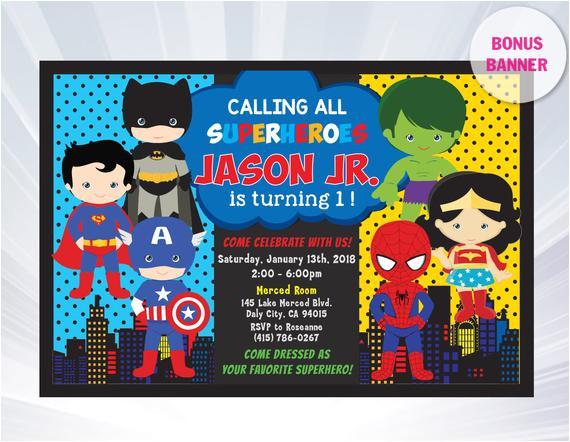 superhero invitation superhero