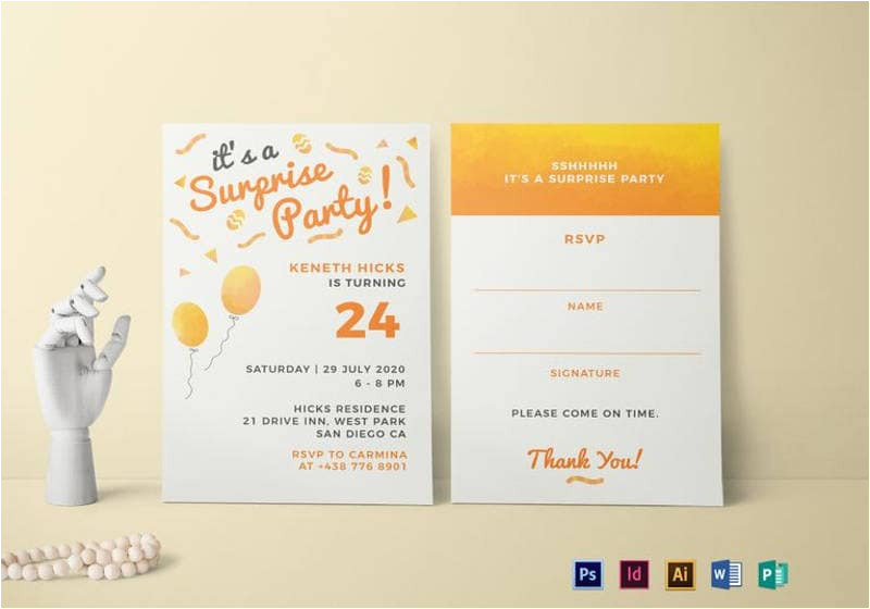 surprise birthday invitation