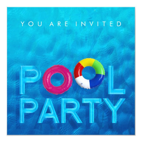 summer swimming pool party invitation 161354157003832883