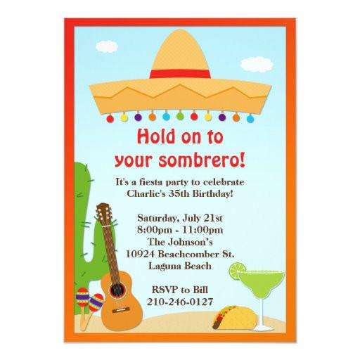 fiesta party invitation 161149000420650593