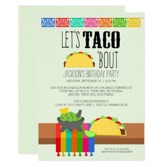 taco bout birthday party invitation 256118410089941326