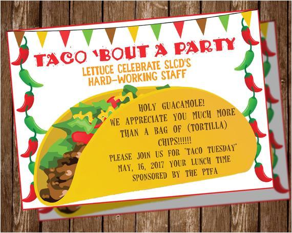 taco party invitation