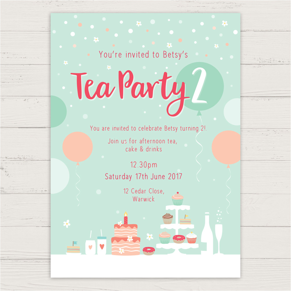 casual tea party invitations designs for your inspirations
